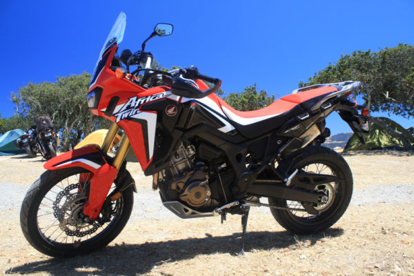 This brand new Honda Africa Twin was parked at the top of Fox Hill all weekend, causing massive salivation on my part.
