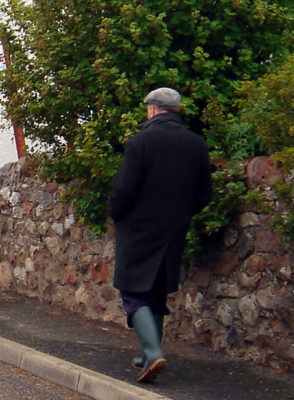 """Wellies"" aka Brian.  I miss seeing him around the village."
