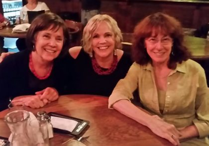 Friends, from left: Cindy Moore, Doni Chamberlain and Marilyn Traugott.