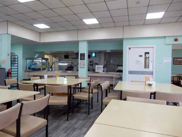 The hospital cafeteria: my home-away-from-home more about 20 hours a week.