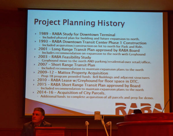 Chuck Auklund offers the project history.