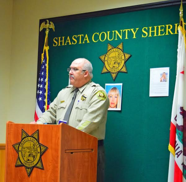 Sheriff Tom Bosenko called a Thursday afternoon press conference about the disappearance of Sherri Papini. Photo by Jon Lewis.