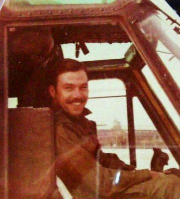 Chuck Prudhomme, artist and Vietnam Veteran. Photo 1971- 1972