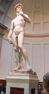 The David, one of the world's most famous and beloved statues.