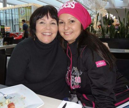 Doni has changed a lot since her last visit to the Czech Republic. Here she is with Czech friend Veronika.