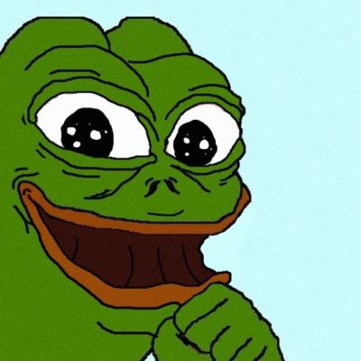 Happy Pepe. Another meme from the r/The_Donald subreddit.