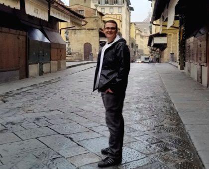 Joe Domke in Florence.
