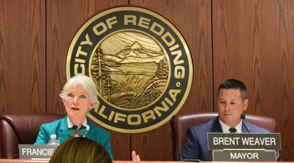 Council members Francie Sullivan and Brent Weaver.