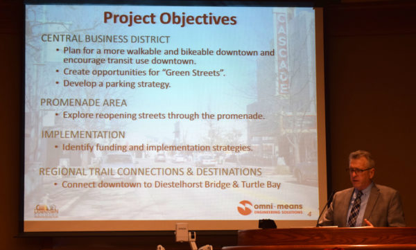 Russ Wenham outlines the transportation plan.
