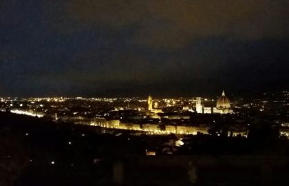 From San Miniota, one of the highest points in Florence, the view - after you've climbed many, many, many stairs - is spectacular.