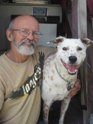 Tim Witting and his pal Rusty get to have regular visits, now that the dog is in Redding.