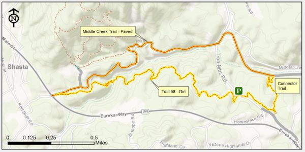Trail 58 - Middle Creek Trail Loop map