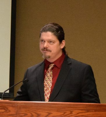 Samuel Williams urged the council to approve pot sales.