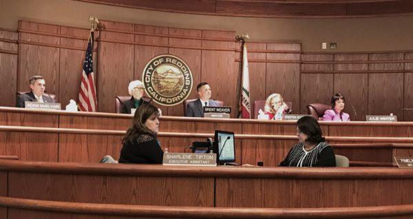City Council members hear testimony.