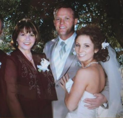 Doni at her son and daughter-in-law's wedding, 2009.