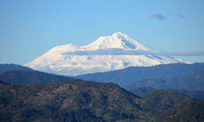 A clear day shows off a snow-capped Mt. Shasta. Photo by Jon Lewis.