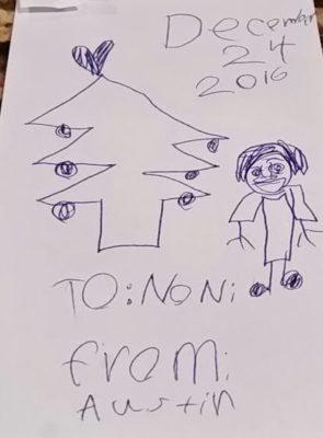 Sketch of Noni Doni by Austin, 6.