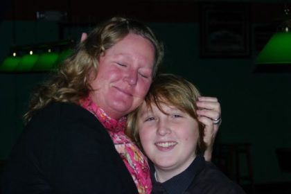 Andrea Charroin with youngest son.