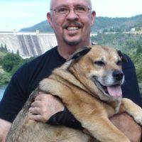 Steve DuBois and his dog pal.