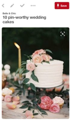 This modest little cake was the inspiration for the cake Doni and Joe created for Aaron and Erin.
