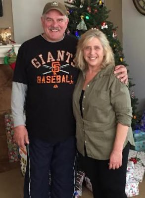 Barry and Diane Hill after she's lost 100 pounds.