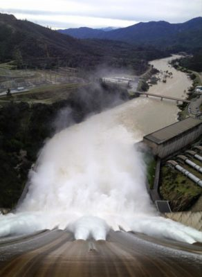 Shasta Dam, February 13, normal vision. By Kelsey Falle.