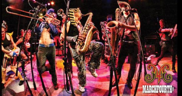 Part dance band, part traveling circus, MarchFourth! will perform at the Veterans Memorial Hall in Redding (next to the Yuba Street post office) on Sunday, March 12.