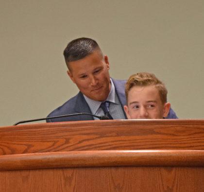Mayor Brent Weaver and Joshy Altamura.