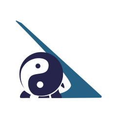 The project logo is composed of the tai chi symbol (yin yang symbol) and the Sundial Bridge. There's also a turtle in it for Turtle Bay (not everyone sees the turtle at first).