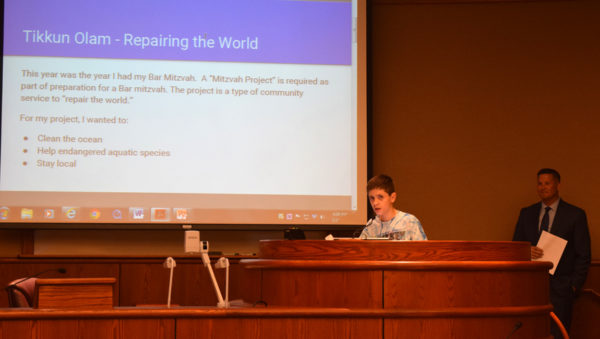 Joel Hastings talks about his Bar Mitzvah project.