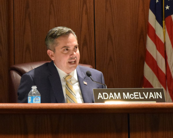 Councilman Adam McElvain makes a pitch for high-speed internet.
