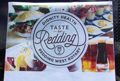 Taste of Redding sign