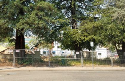 Redding has a very bad habit of destroying its few historic structures. Today the Craftsman style Dobrowsky house at Yuba and Oregon streets was demolished to make way for the proposed new courthouse. This home joins the ghosts of many other downtown Redding buildings destroyed to make way for something new.