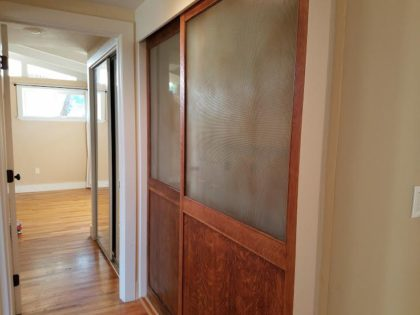 Doni bought these doors in the '80s, and they stayed with her through two marriages and many moves. Now, they'll remain in her old house.