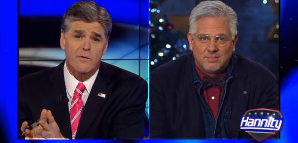 One of the best things about Sean Hannity and Glenn Beck is they despise each other. Photo from theblaze.com.