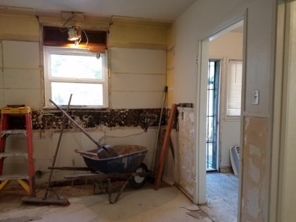 The doorway that leads to the laundry room will be widened.