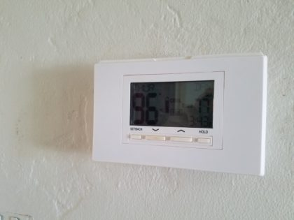 The house, sans AC from the ratty ducts, routinely reached into the high 90s.
