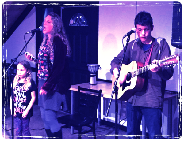 The whole family gets into the open mic night at Creek Monkey Taphouse.