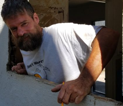 Corey's Doni's right-hand handy man on her new/old house.