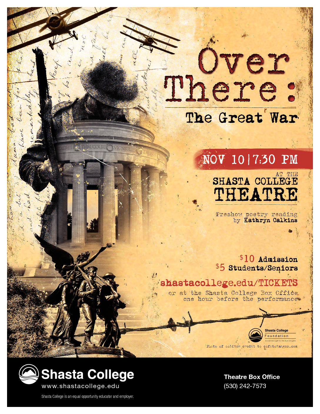 """Shasta College presents """"Over There: The Great War"""