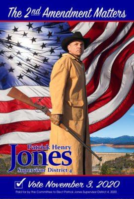 Patrick Henry Jones's 2020 campaign poster